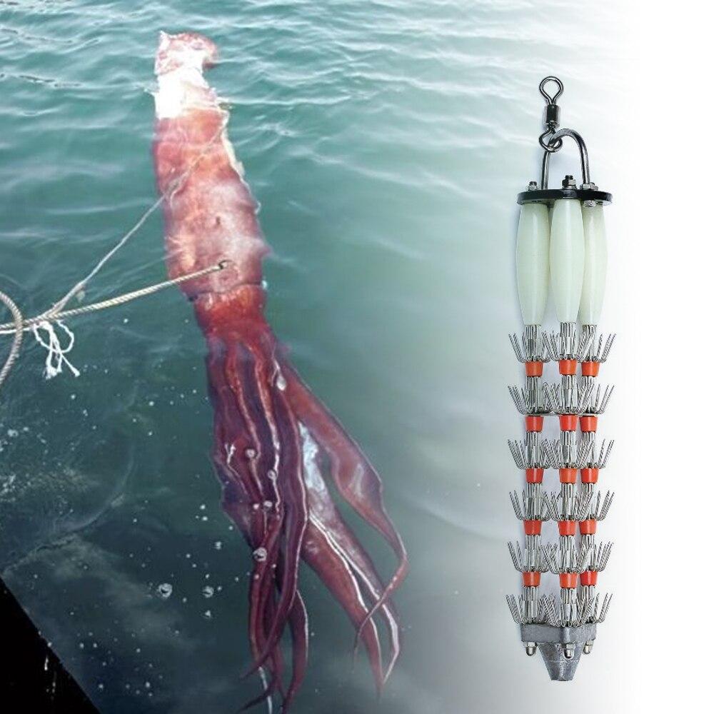 Bimoo gabarit de calmar géant calmar de mer profonde pieuvre gabarit de pêche leurre bateau Commercial calmar appât de pêche rapide naufrage