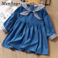 Girls Dress 2019 Autumn Style Kids Spring Clothes Long-Sleeves Casual Girls Clothing Children Dress Boats Printing Clothes Dress