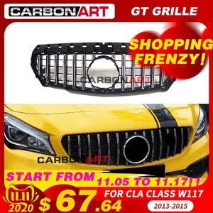 Image 1 - 11.11 CLA W117 GT style Grille for MB Front Grill for CLA Class W117 C117 CLA200 220 CLA260 300 2013 2015 FOR benz front grille
