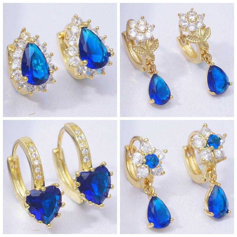 Gift Cubic Zirconia Women Hoop Earrings Fashion Jewelry Snow Flower