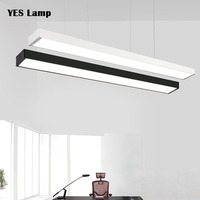 主導現代のシーリングライトランプ調光可能な表面実装 Rectangleindustrial 風照明器具、リビングルーム、オフィスライト