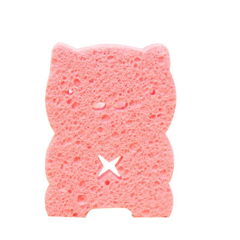 Sponges Soft Bathing Sponge Foam For Newborn pink