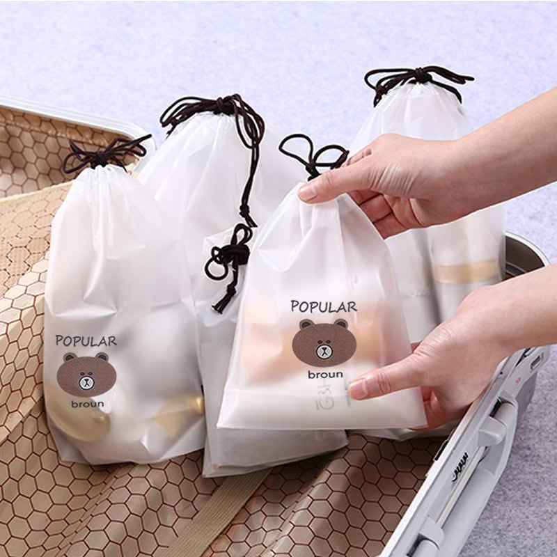 Kadınlar şeffaf İpli kaktüs kozmetik çantası seyahat makyaj çantası makyaj banyo organizatör çanta tuvalet yıkama güzellik @ 2