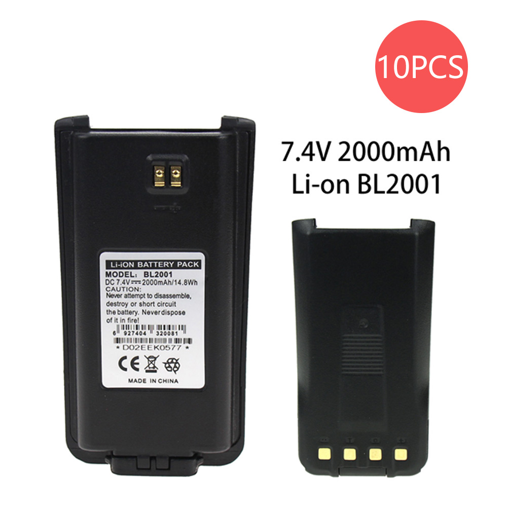 10X Replacement Lithium Ion Battery For HYT BL2001, TC610, TC620 BLI-BL2001 Two Way Radio