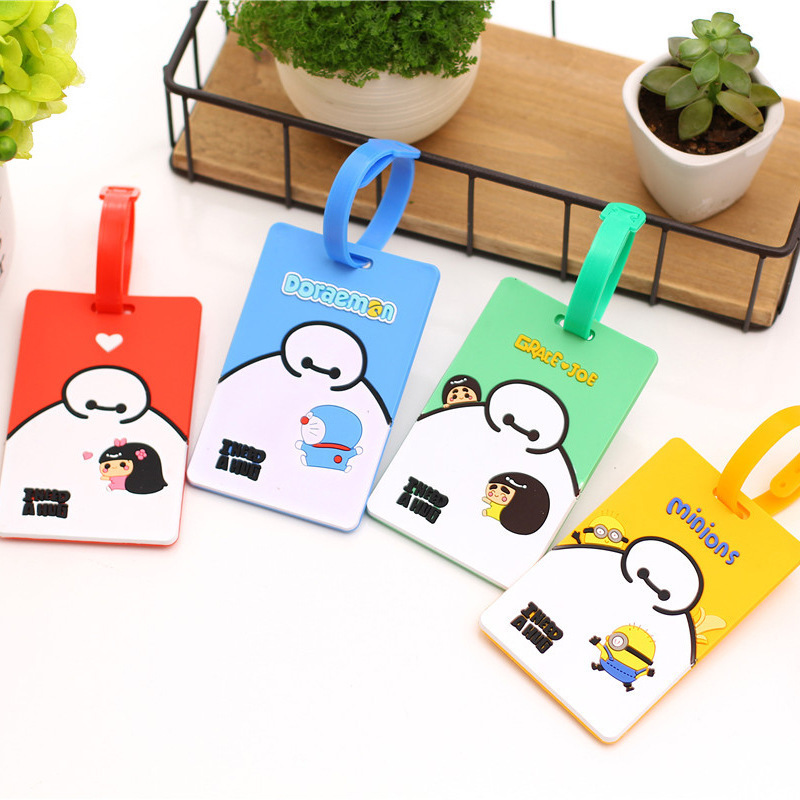 P41 Special Price Korean-style Fashion Lovely Big White Cartoon Silica Gel Lv Xing Pai Luggage Tag Consign Travel Pendant