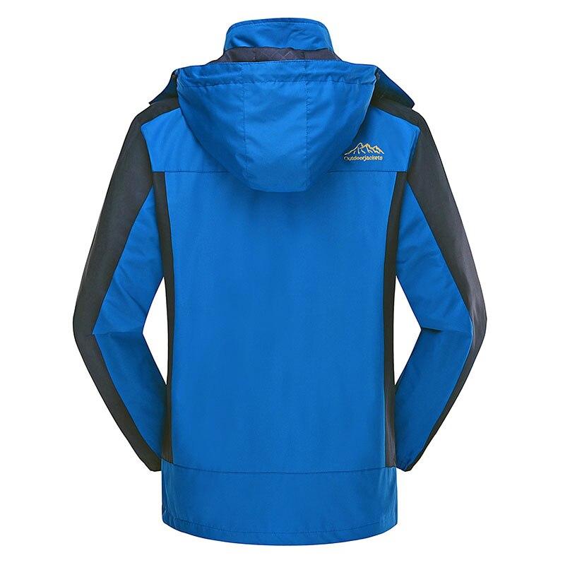 Image 4 - Autumn Men Windbreaker Male Windproof Waterproof Hood Jacket Plus  Big Size 5XL 6XL 8XL 9xl Man Coat Work Clothing Outwearmen coat  autumnmen coathooded jacket