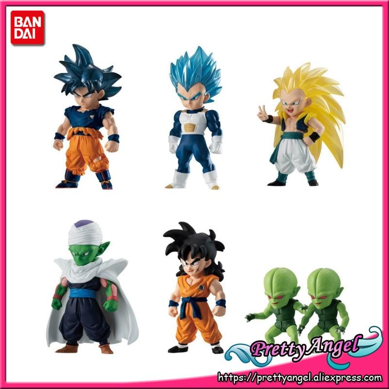PrettyAngel Genuine Bandai ADVERGE 11 Dragon Ball SUPER Full Set of 6 Pcs Goku Vegeta Yamcha Piccolo Gotenks Toy Figure