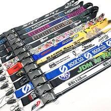 2021 nova jdm racing rock moda tags do empregado do cartão cordão chaveiro náilon bordado motocicleta auto chaveiro carro acessórios