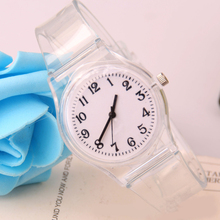 Transparent Silicone Strap Watches Women Sport Quartz Wristwatch Fashion Casual Crystal Ladies Watch Novelty Cartoon Clock