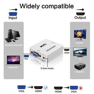 Image 3 - FSU taşınabilir tak ve çalıştır VGA HDMI çıkışı 1080P HD ses TV AV HDTV PC Video kablosu VGA2HDMI dönüştürücü adaptör