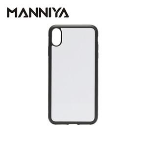 Image 1 - MANNIYA 2D סובלימציה ריק גומי טלפון מקרה עבור iphone XS מקסימום עם אלומיניום מוסיף ודבק 10 יח\חבילה