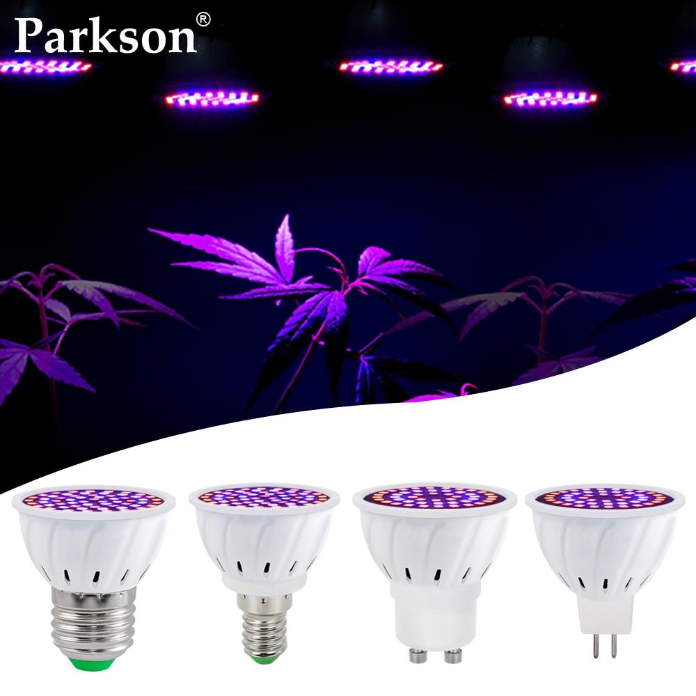 E27 E14 MR16 GU10 Светодиодный лампа для выращивания растений с питанием от источника полный спектр 220V Светодиодный лампа для выращивания гидропо...