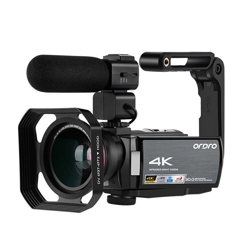 AE8 Цифровая видеокамера 4K Цифровая видеокамера обновление 3,0 ips Full HD камера ИК инфракрасное ночное видение с микрофоном