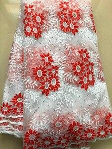 Image 5 - 아프리카 레이스 패브릭 2020 고품질 프랑스어 HLL3878 메쉬 레이스 패브릭 비즈 나이지리아 우유 실크 레이스 직물 드레스 로얄 블루