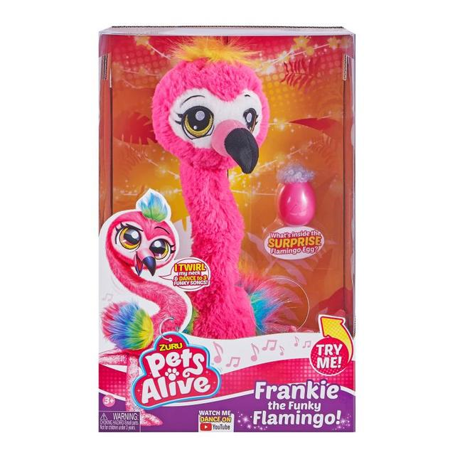 Pets Alive Frankie The Funky Flamingo Battery-Powered Dancing Robotic Toy By Zuru Collectible Toy Anime Figure Toys Gift 2