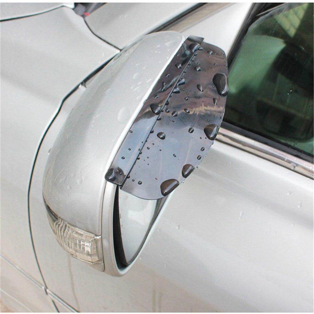 2Pcs Universal Flexible PVC รถอุปกรณ์เสริมกระจกมองหลังฝนตก Rainproof ใบมีดกระจกรถ Eyebrow Rain Cover