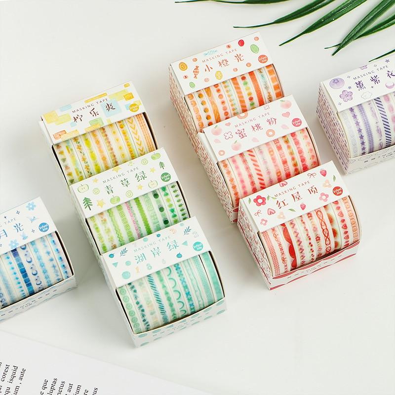 Planner Accessories Slim Washi Tape Set of 10 Bullet Journal Decoration
