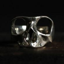 Bem oi ben homem skul simples anel 925 prata esterlina design original feito à mão motociclista punk escuro