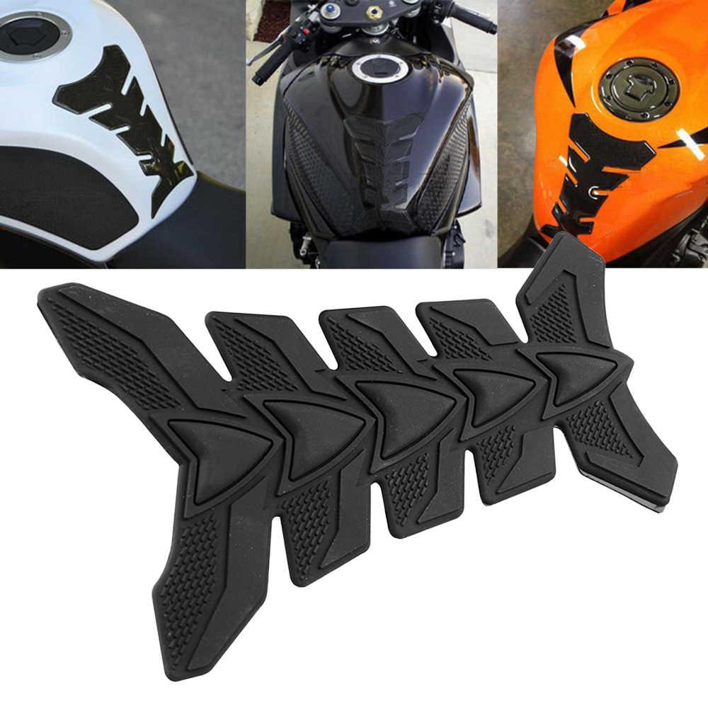 3D karbon Fiber motosiklet jel yağ gaz yakıt tankı Pad koruyucu Sticker çıkartma Fit Moto Honda etiket Suzuki için etiket