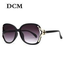 DCM – lunettes De Soleil Vintage pour femmes, marque De styliste, ovale, grande monture, UV400
