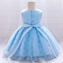 Летнее платье для маленьких девочек с цветочным рисунком; Платье принцессы; Вечерние фатиновые Платья с цветочным принтом для детей ясельн...