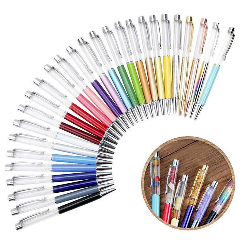 27 حزمة ملونة فارغة أنبوب العائمة DIY بها بنفسك أقلام حبر جاف ، وبناء المفضلة لديك أقلام الرمال السائلة هدية أقلام أنبوب فارغة
