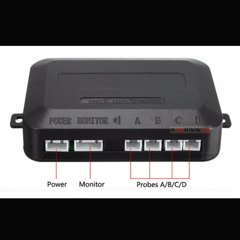 Image 4 - Koorinwoo LED display Car Parking Sensors 4 Radars Automobile Jalousie Parkmaster Car detector Parktronic Alarm Black white Grey-in Parking Sensors from Automobiles & Motorcycles