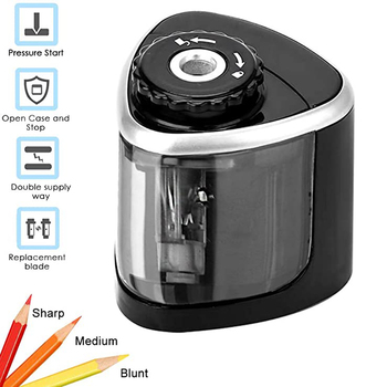 Tenwin Automatic Electric Pencil Sharpener Blade for Kids School Stationery Office Home supplies Battery-Powered Safe stationery electric pencil sharpeners school supplies automatic pencil sharpener for children home office accessories kits