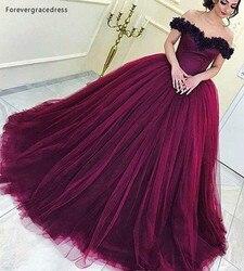 2019 Wine Red Quinceanera Vestido de Princesa Árabe Dubai Off Ombro Doce 16 Idades Longas Meninas Prom Party Pageant vestido Mais tamanho