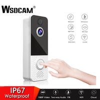 Wsdcam 스마트 비디오 초인종 와이파이 1080P 비주얼 인터콤 나이트 비전 IP 도어벨 PIR 보안 인터콤 무선 카메라 T8