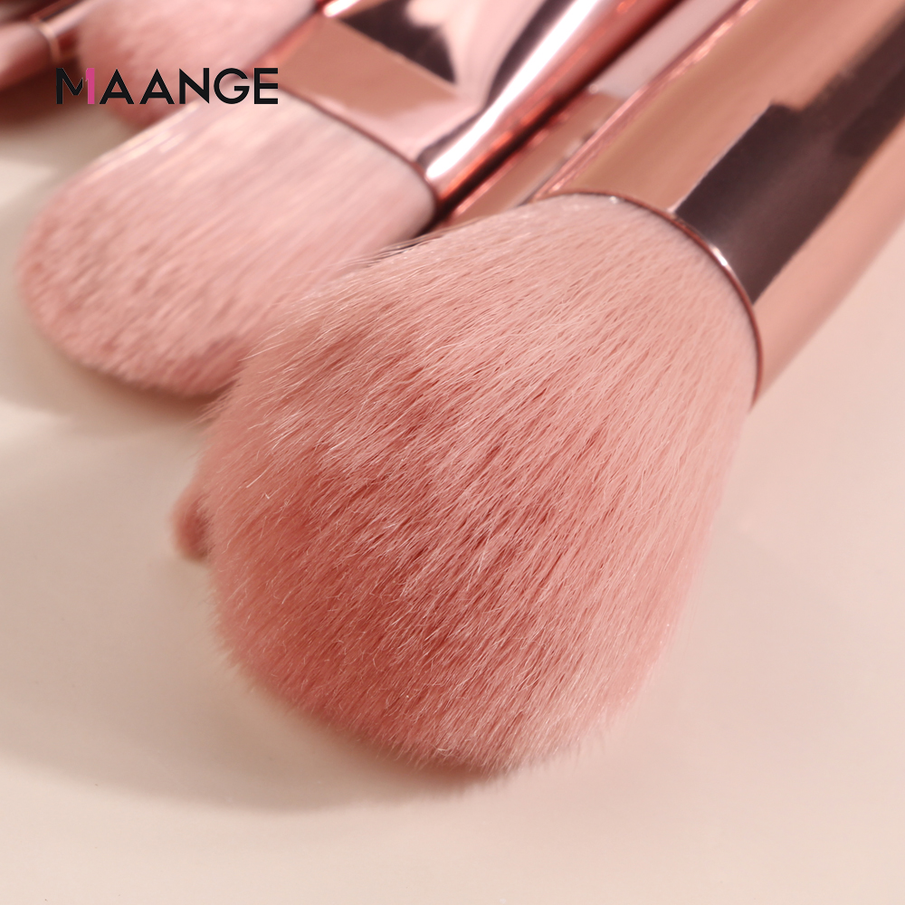 MAANGE Makeup Brushes Pro Pink Brush Set Powder EyeShadow Blending Eyeliner Eyelash Eyebrow Make up Beauty Cosmestic Brushes 3