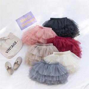 Baby Princess Girls Solid Color Net Gauze Puffy Tutu Skirt