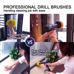 Image 5 - 2/3.5/4/5 tools tools ferramentas de limpeza do cuidado automático broca escova limpeza esfregando escovas para a superfície do banheiro grout telha banheira chuveiro cozinha