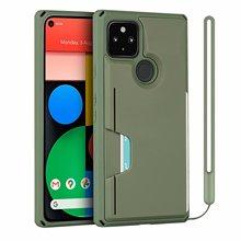 Google Pixel için 5/piksel 5 XL zırh telefon kılıfı için Google piksel 4A 5G koruma sert kapak w/el kayışı Galaxy S20 FE