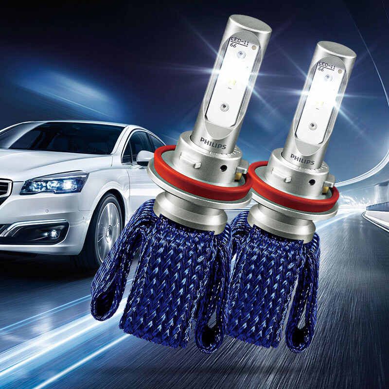 2X Philips Ultinon Essential LED Kit 6000K 12V H8 H11 H16 LED Fog Lamps Car Genuine Bulbs 100% More Bright Light 11366UEX2