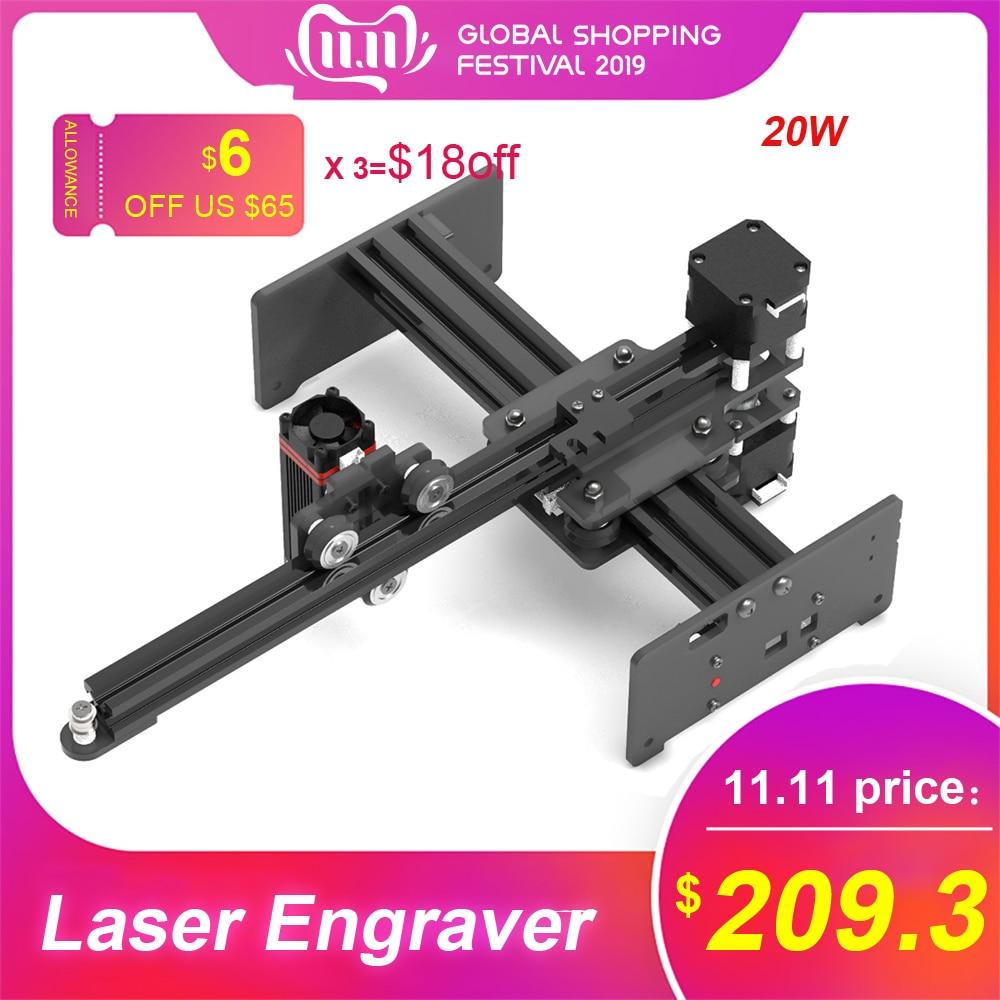 20W Laser gravure Machines CNC Laser graveur Mini sculpteur bricolage laser cutter bois routeur CNC pour métal gravure sur bois machine