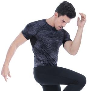 Image 3 - Acefancy nefes spor üstleri erkekler için T gömlek için elastik spor salonu absorbe ter T gömlek spor giysileri erkek 71601 spor erkekler