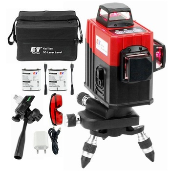 KaiTian 12Lines 3D Laser Level Self-Leveling 360 Degre Horizontal Vertical Cross Powerful Level Laser Tool With Outdoor Detector leter 12lines 3d laser level 360 laser electronic leveling laser beam line