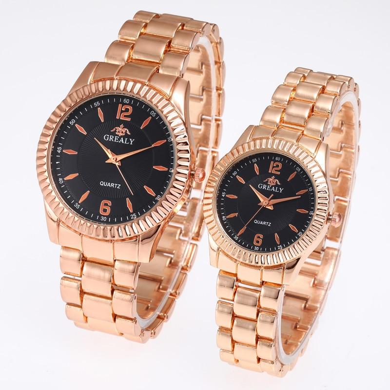 Ladies Pair Watch Luxury Wristwatch Femme Stainless Steel Lovers Montres Retro Dial Couple Watches Women Man Quartz Female