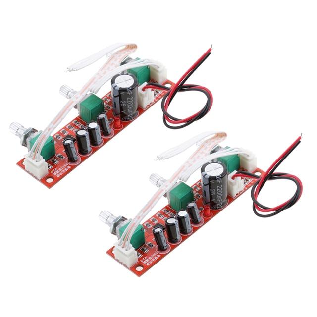 2 Pieces NE5532 Preamp Pre amplifier Tone Board Kit Treble Bass Volume Control Module