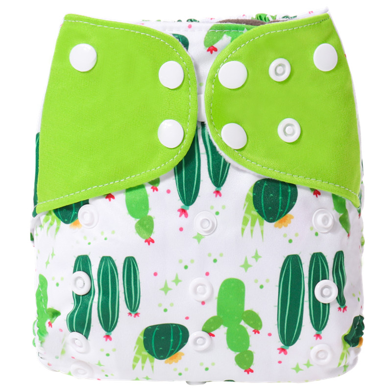 2019 New Reusable Baby Cloth Diapers One Size Washable Fitted Pocket Nappies