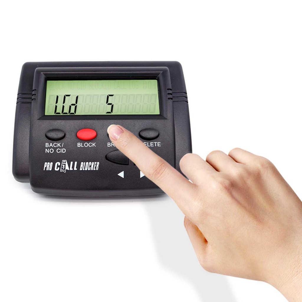 コールブロッカー複合コールブロッカー & コール id 表示 1500 数字容量ワンタッチブラックリストボタン lcd ディスプレイ