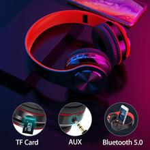 лучшая цена Bluetooth 5.0 Stereo Headphones Supports TF Card Headset FM With Mic Earphones Headset Auriculares Bluetooth inalambrico