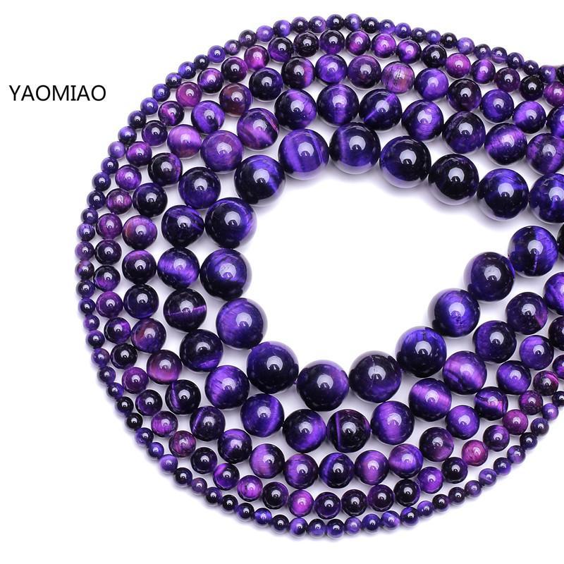 New Diy 4 6//8//10//12 mm Natural Stone Rose Quartz Round Beads fit Yoga bracelet