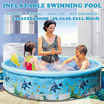Inflatable Swimming Pool Blow Up Pool for Family Kids Backyard Foldable Kids Paddling Pool Safety Portable Swimming Pool