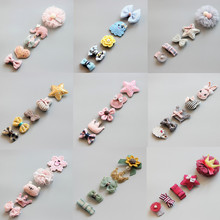 5Pcs/Set Baby Hair Clips Cute Girl Bows Crown Hair Clips Kids Child Baby Hairpins Barrettes Haarspeldjes Baby Hair Accessories