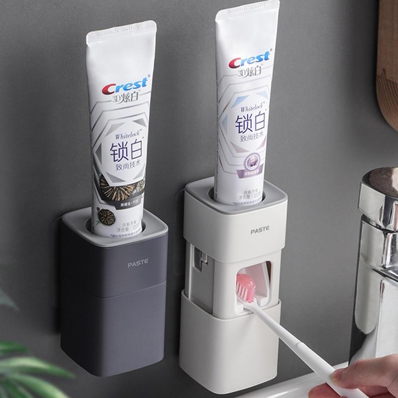 Пыленепроницаемый дозатор для зубной пасты, автоматический удобный дозатор для зубной пасты, моющийся дозатор для зубной пасты, аксессуары...
