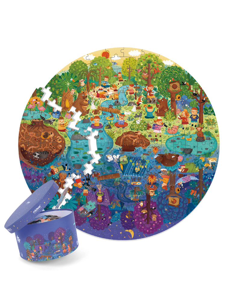 Creativity Round Puzzles for Children Intelligence Amily Games Jigsaw Puzzle Kids Toys Card Games Speelgoed Indoor Games AD60PT