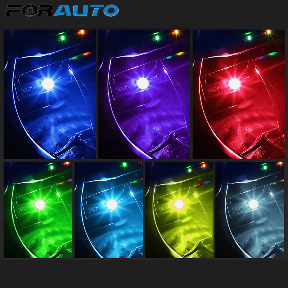FORAUTO Car Atmosphere Light DJ RGB Mini Colorful Music Sound Lamp Car-styling