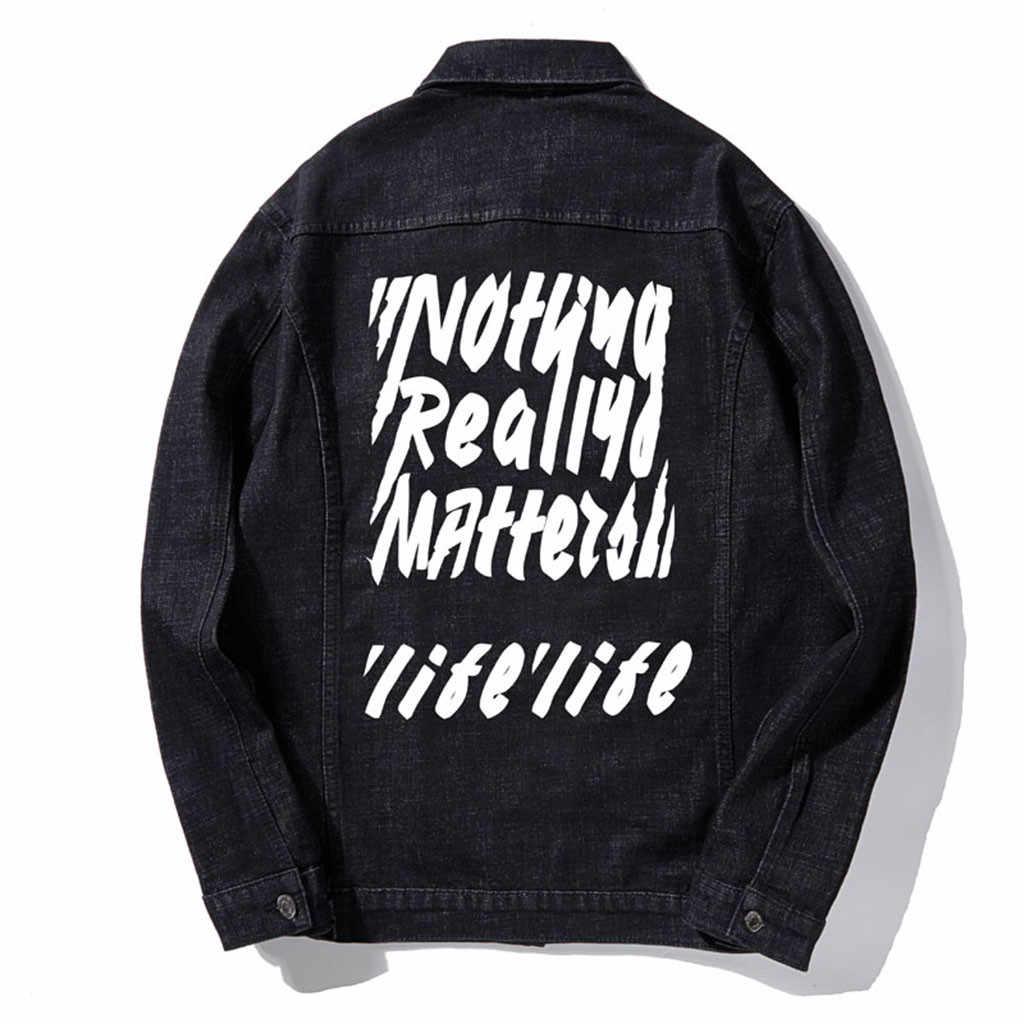 Chaqueta de mezclilla de moda para hombre chaqueta de invierno motocicleta delgada agujero jeans chaqueta de talla grande abrigo hombre invierno # y15